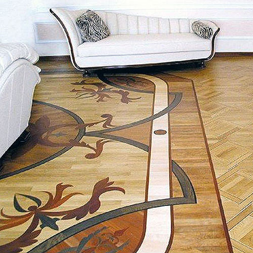 Rich patterns for relaxation, a Heritage Marquetry floor adds a special touch to your lounge.