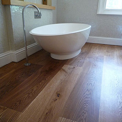 An example of our stylish dark effects on wood flooring.